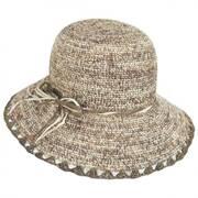 Baja Crocheted Straw Cloche Hat