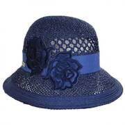 Flower Patch Straw Cloche Hat