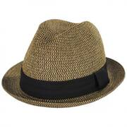 Heather Packable Toyo Straw Trilby Fedora Hat