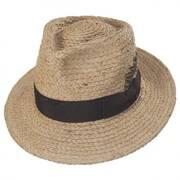 Crosby Raffia Straw Fedora Hat