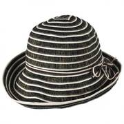 Metallic Ribbon Cloche Hat
