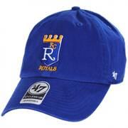 Kansas City Royals Cooperstown Clean Up Strapback Baseball Cap Dad Hat