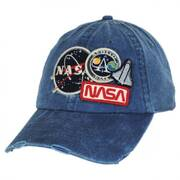 Iconic NASA Distressed Strapback Baseball Cap Dad Hat