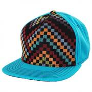 Teal Checkered Snapback Baseball Cap