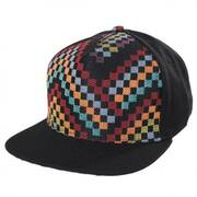 Black Checkered Snapback Baseball Cap