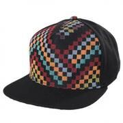 Black Checkered Snapback Baseball Cap