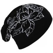 Floral Cotton Slouchy Beanie Hat