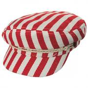 Striped Cotton Blend Fiddler Cap