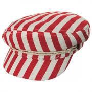 Striped Cotton Blend Fiddler Cap