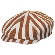 Brood Striped Cotton Blend Newsboy Cap