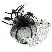 Blushing Mesh Fascinator Headband