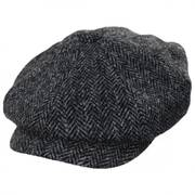 Carloway Harris Tweed Gray Wool Newsboy Cap