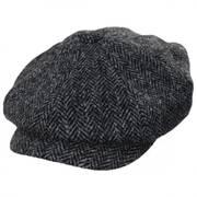 Carloway Harris Tweed Gray Wool Newsboy Cap
