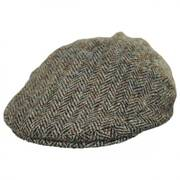 Stornoway Harris Tweed Wool Herringbone Flat Cap
