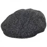 Stornoway Harris Tweed Gray Wool Flat Cap