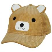 Corduroy Bear Cotton Baseball Cap