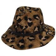 Cheetah Wool Felt Gambler Hat