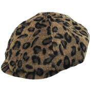 Brood Leopard Wool Blend Newsboy Cap