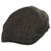 Classic Shetland Wool Herringbone Duckbill Ivy Cap