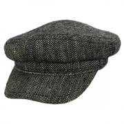 Staggered Herringbone Linen Silk Blend Fiddler Cap