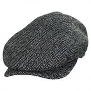 Chiswick Herringbone Square Bill Wool Ivy Cap
