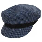 Check Wool Fiddler Cap