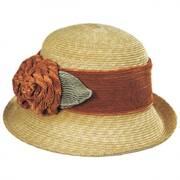 Sara Milan Straw Cloche Hat