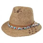 Ojia Raffia Straw Fedora Hat