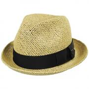 Castor Open Weave Toyo Straw Fedora Hat