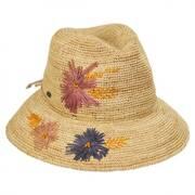 Lisse Hand Crocheted Raffia Straw Fedora Hat