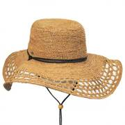 Pedasi Hand Crocheted Raffia Straw Swinger Hat