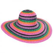 Milan Striped Wheat Straw Sun Hat