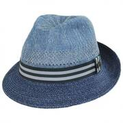 Berle Toyo Straw Blend Fedora Hat