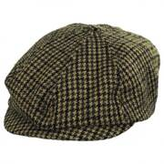 Brood Adjustable Houndstooth Wool Blend Newsboy Cap