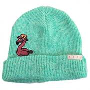 Peek A Boo Flamingo Beanie Hat