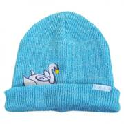 Peek A Boo Swan Float Beanie Hat