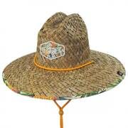 Pineapple Straw Lifeguard Hat