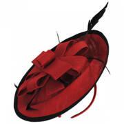 Rojo Disc  Fascinator Hat