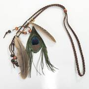 Peacock Beaded Hat Band