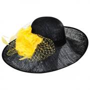 Mimosa Sinamay Straw Off Face Dress Hat
