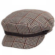 Houndstooth Wool Blend Fiddler Cap