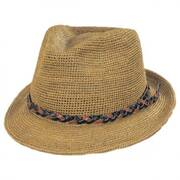 Water Ways Raffia Straw Fedora Hat