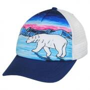 Child's Polar Bear Trucker Snapback Baseball Cap
