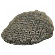 Stornoway Harris Tweed Oatmeal Wool Flat Cap