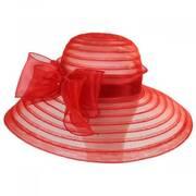 Valentina Mesh Ribbon Lampshade Hat