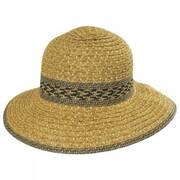 Mayan Toyo Straw Cloche Hat