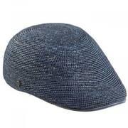 Harlan Raffia Crochet Flat Cap