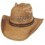 Reid Raffia Straw Vent Western Hat