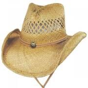 Hudson Raffia Straw Vent Western Hat