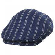 Striped Linen Blend Ivy Cap